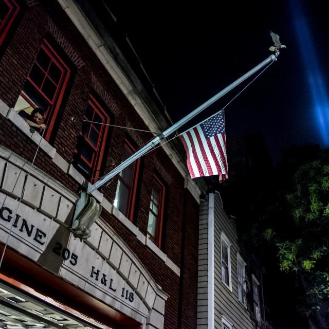"""Tribute in Light, Manhattan. 3"" stock image"