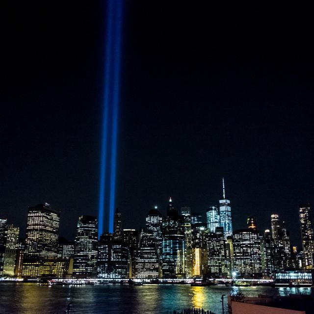 """Tribute in Light, Manhattan.4"" stock image"