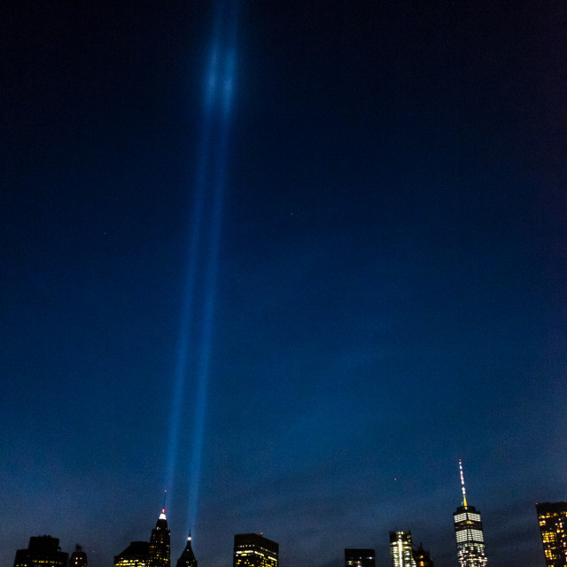 """Tribute in Light, Manhattan.2"" stock image"