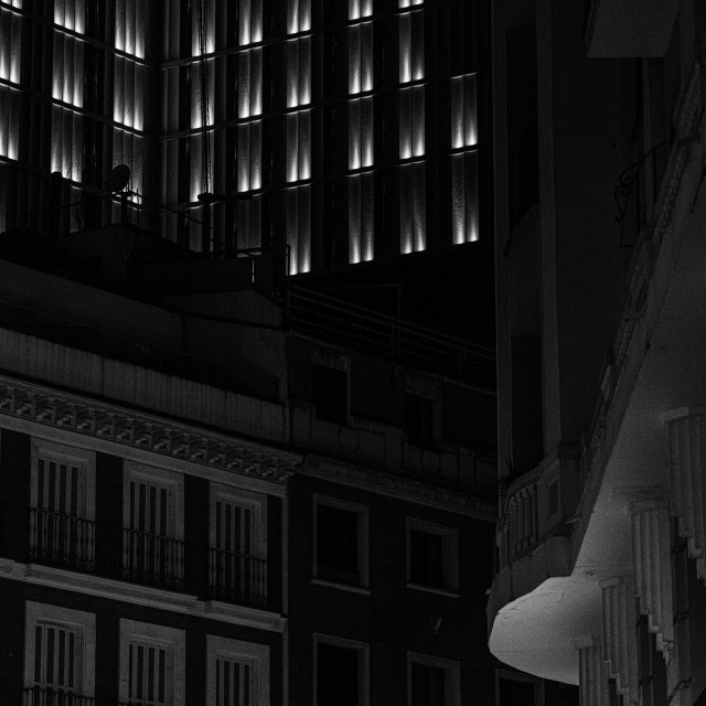 """Madrid at night"" stock image"