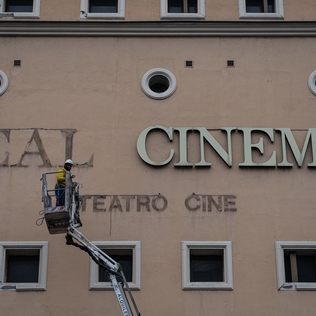 """""""The last days of the Real Cinema"""" stock image"""