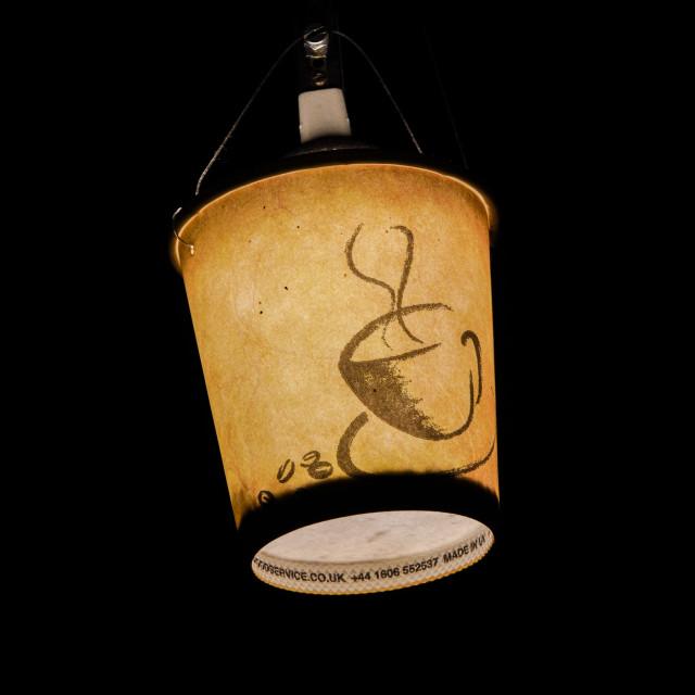 """A light latte"" stock image"