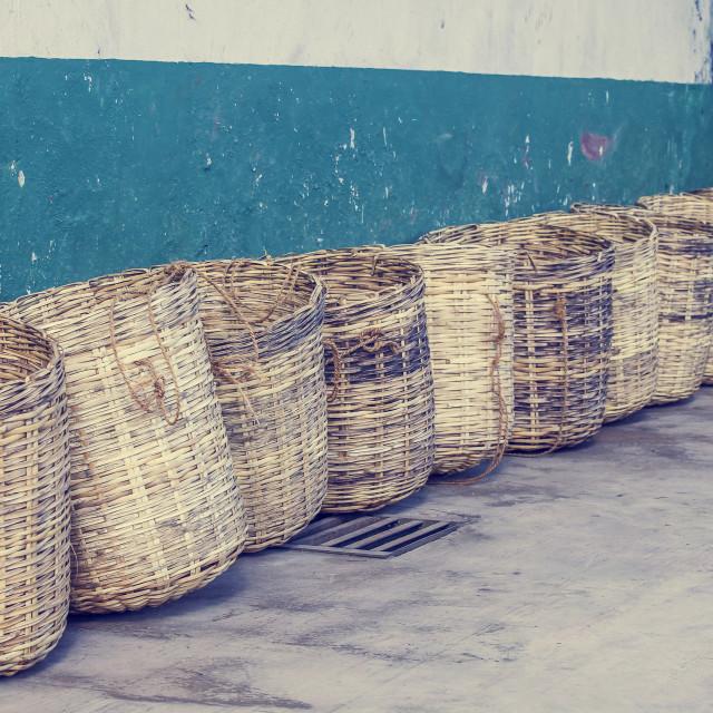 """""""Wicker baskets"""" stock image"""