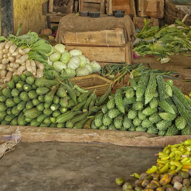 """Indoor market in Sri Lanka"" stock image"