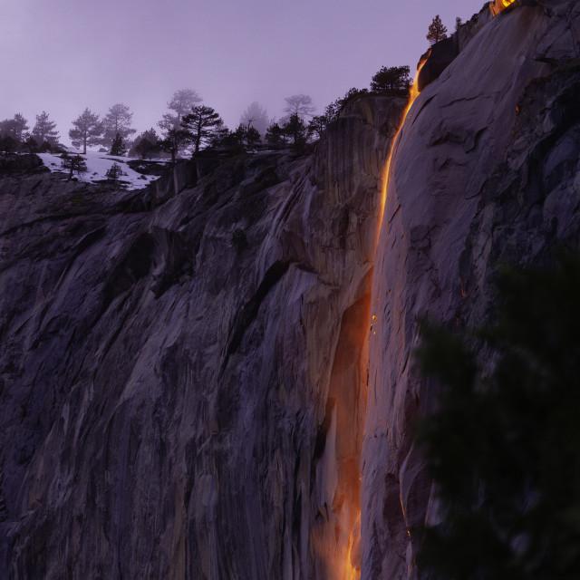 """Firefalls in Yosemite"" stock image"