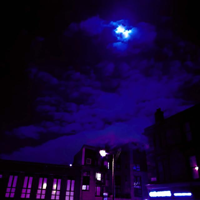 """Moonlit Night"" stock image"