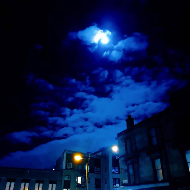 """""""Spellbinding Moon light"""" stock image"""