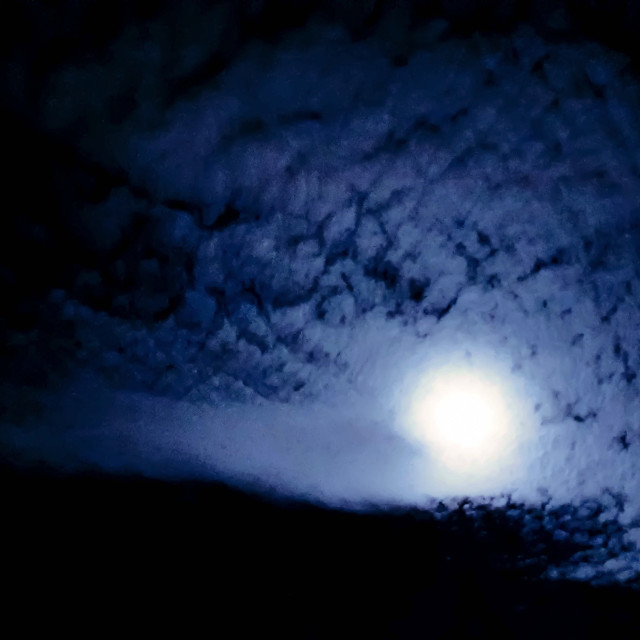 """Moonlit Horizons"" stock image"