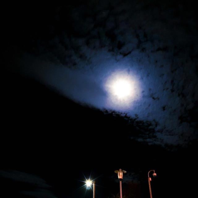"""Moonlight on Horizons"" stock image"