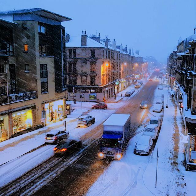 """SnowFall in Scotland"" stock image"