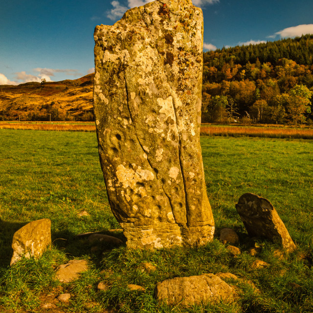 """""""Cup and Ring Standing Stone"""" stock image"""