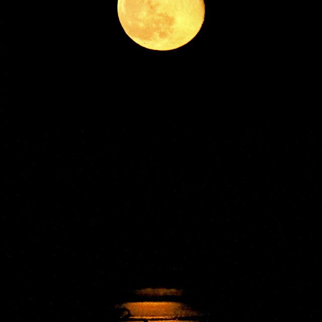 """Snow Moon"" stock image"