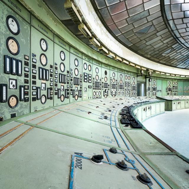 """Kelenfold Abandoned Control Room"" stock image"