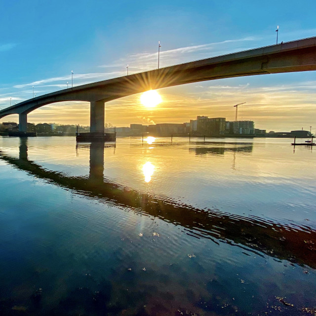 """""""Itchen Bridge"""" stock image"""