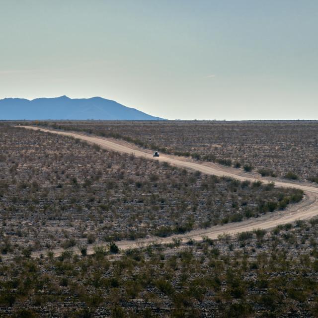 """Road Through The Desert"" stock image"