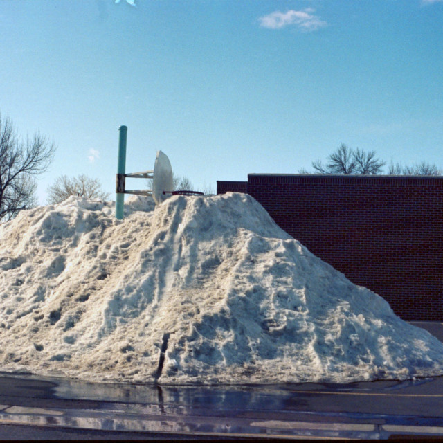 """""""A Pile of snow"""" stock image"""