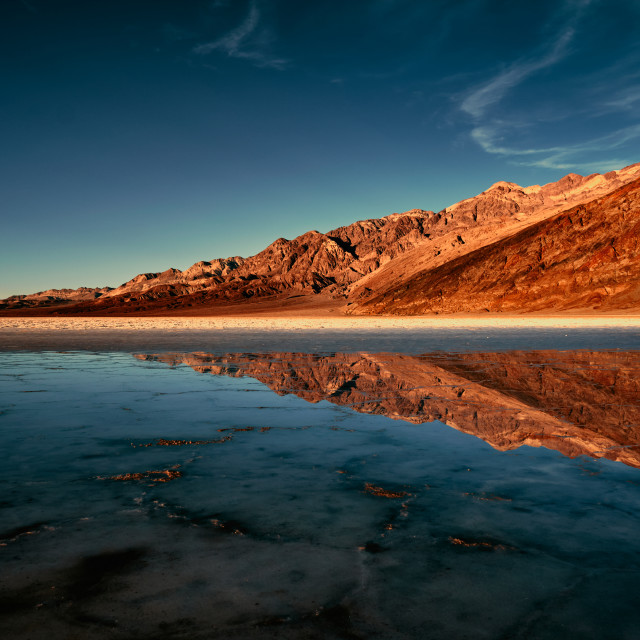 """""""Reflections Of A Desert"""" stock image"""