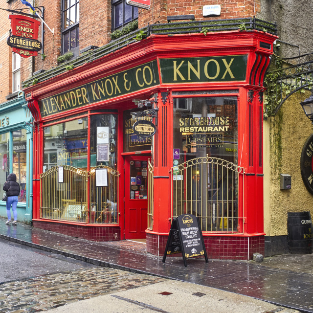"""Alexander Knox & Co storehouse"" stock image"