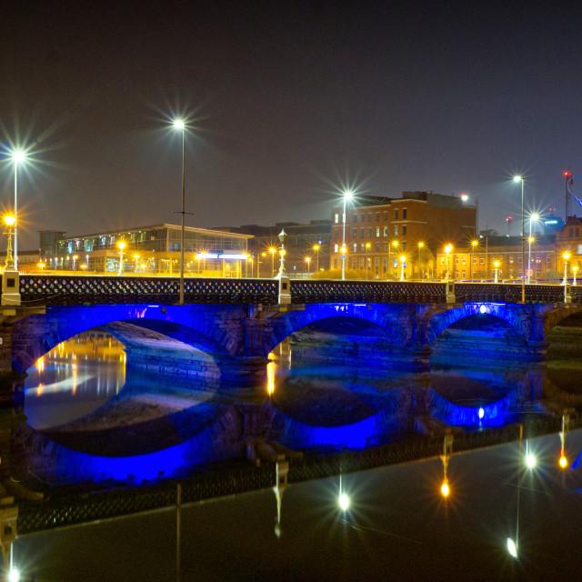 """""""Queens Bridge, Belfast"""" stock image"""