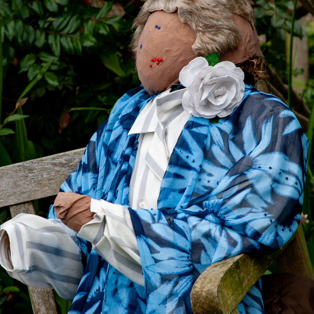 """""""Kettlewell Scarecrow Festival and Trail, Scarecrow Lady. Yorkshire Dales, England."""" stock image"""