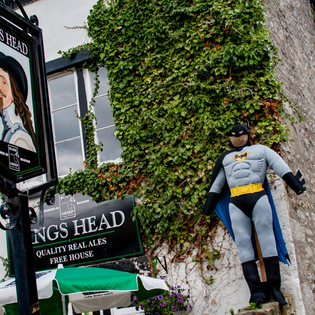 """""""Kettlewell Scarecrow Festival and Trail, Batman. Yorkshire Dales, England."""" stock image"""