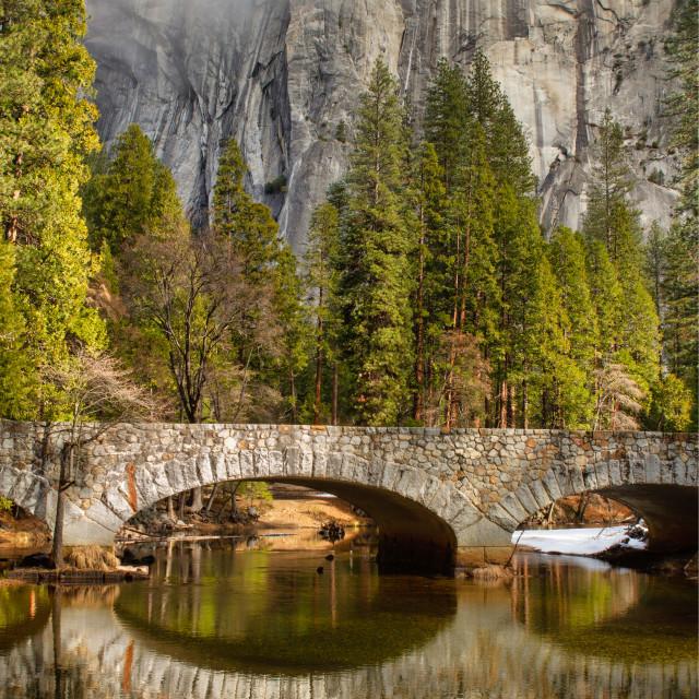 """""""Stone bridge reflection"""" stock image"""