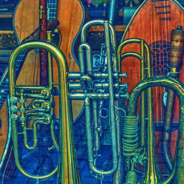 """Musical Instruments - Prague"" stock image"