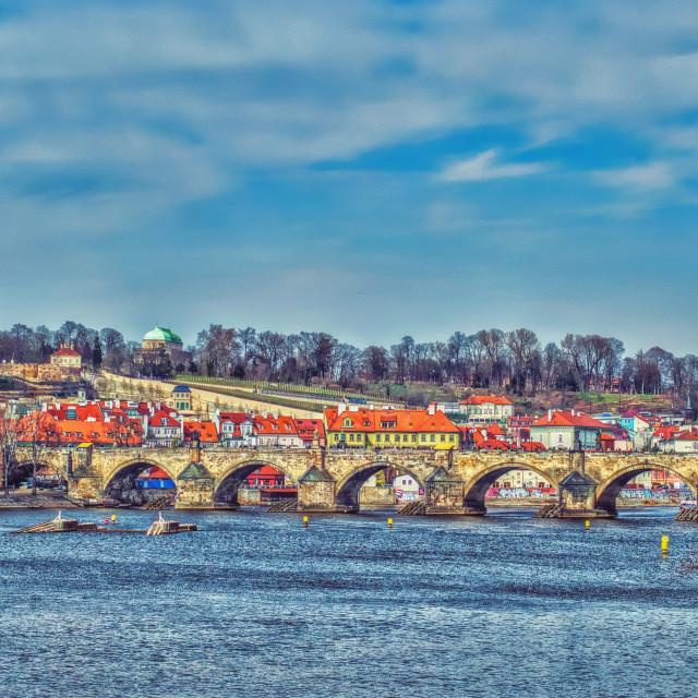 """The Charles Bridge - Prague"" stock image"