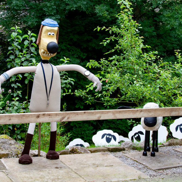 """""""Kettlewell Scarecrow Festival and Trail, Bitzer. Yorkshire Dales, England."""" stock image"""