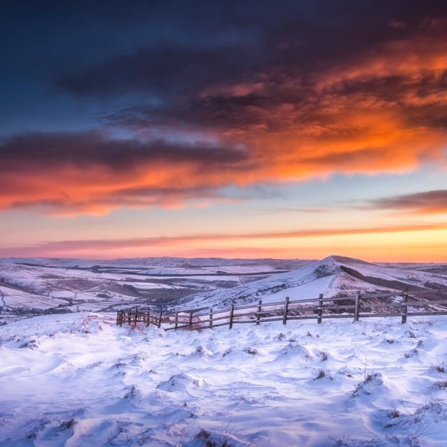 """Winter Sunrise"" stock image"