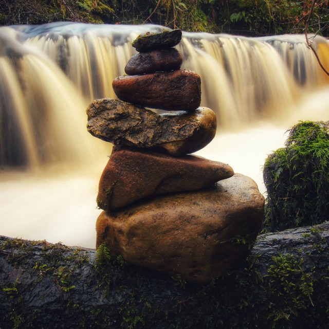 """""""Calm at the river"""" stock image"""