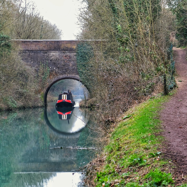 """""""Canal, Tring"""" stock image"""