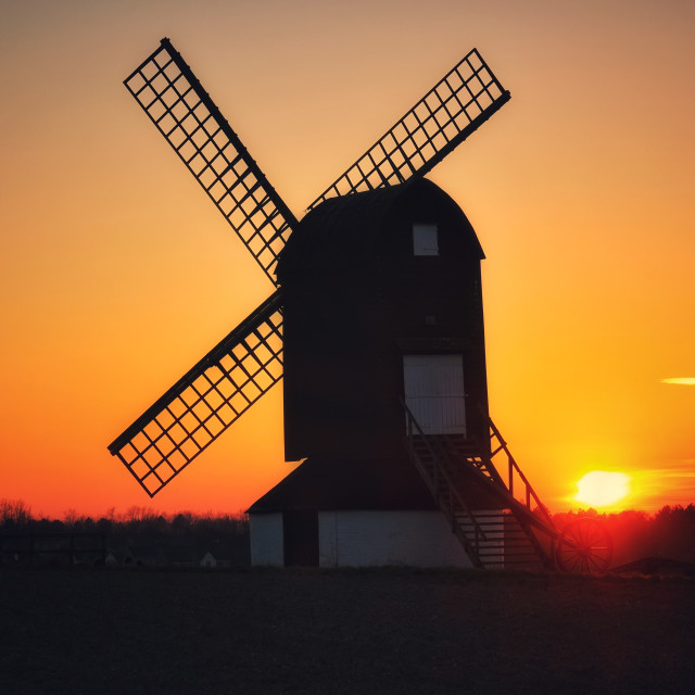 """""""Pitstone windmill"""" stock image"""