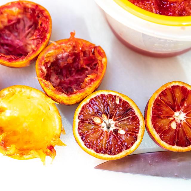 """Blood oranges"" stock image"