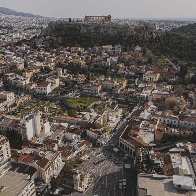 """""""Monastiraki Square Athens"""" stock image"""
