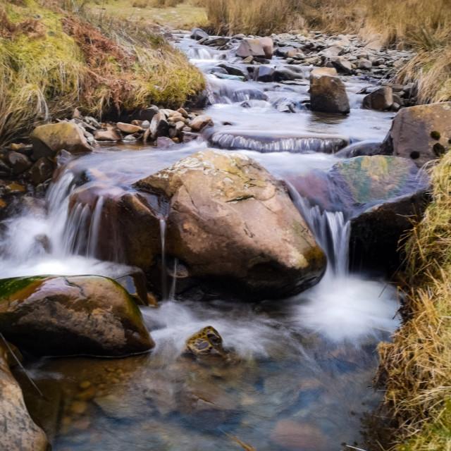 """Riverside long exposure"" stock image"