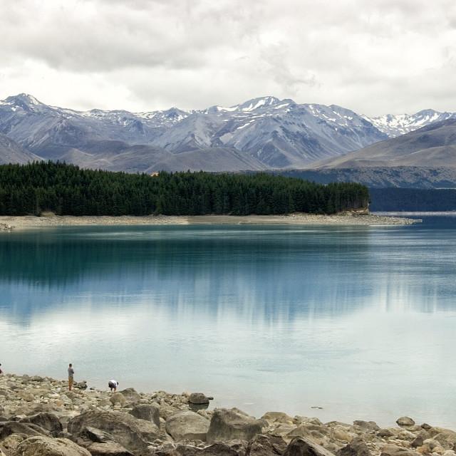 """Lake Pukaki, NZ"" stock image"