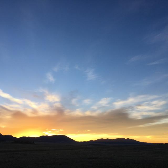 """""""Pastel sunrise"""" stock image"""