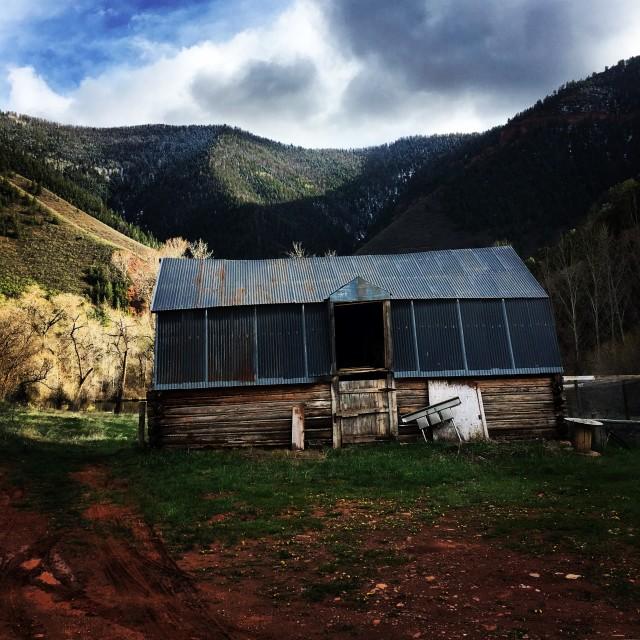 """Old Mountain Barn"" stock image"