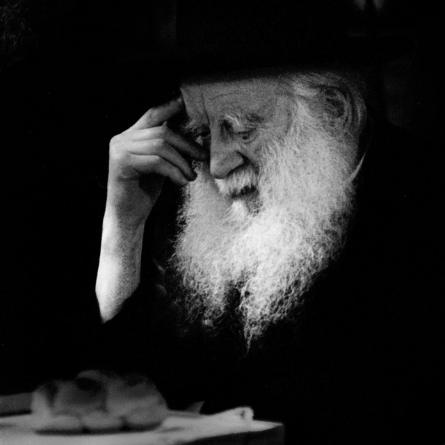 """""""Manchester Rosh Yeshiva at Siyum"""" stock image"""