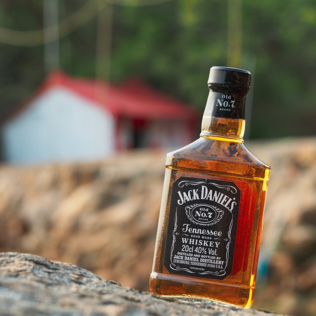 """""""Jack Daniels by the Shore"""" stock image"""