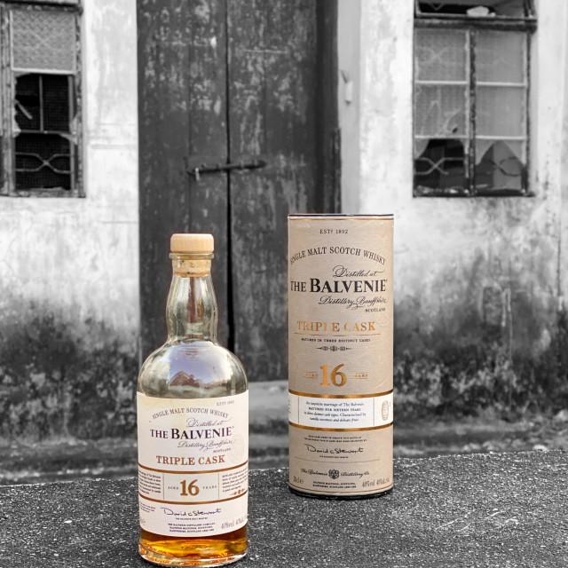"""The Balvenie Single Malt"" stock image"