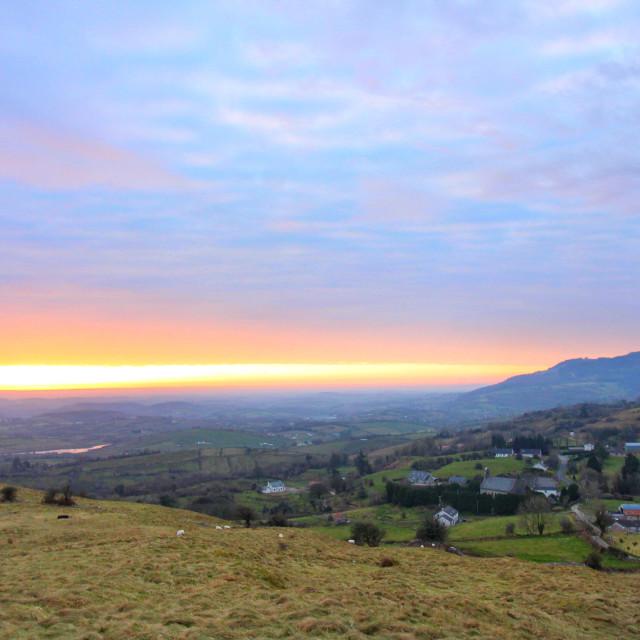 """""""Sunrise over Boho"""" stock image"""