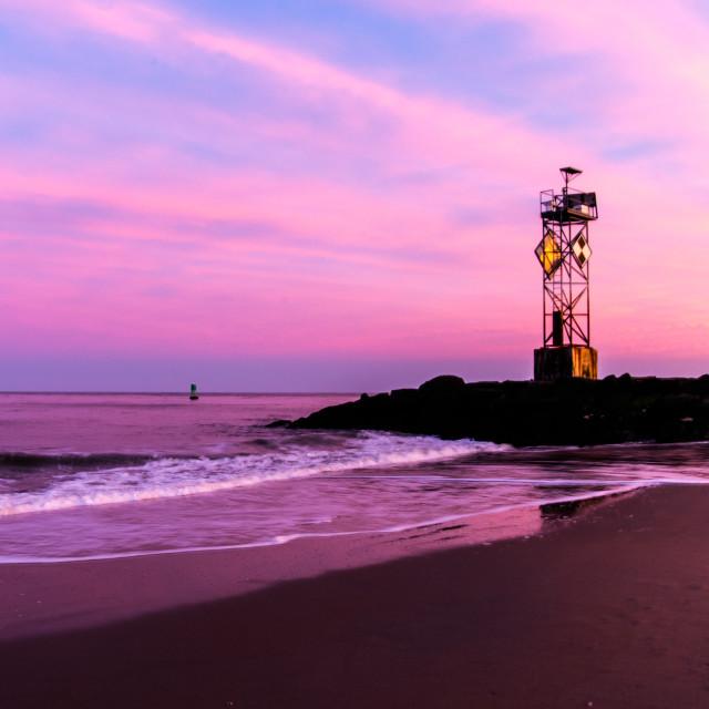 """Ocean City Sunset"" stock image"