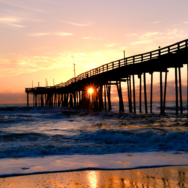 """Sunrise, Avon Pier (4)"" stock image"