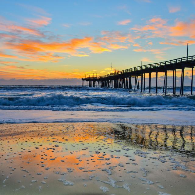 """Sunrise, Avon Pier (3)"" stock image"