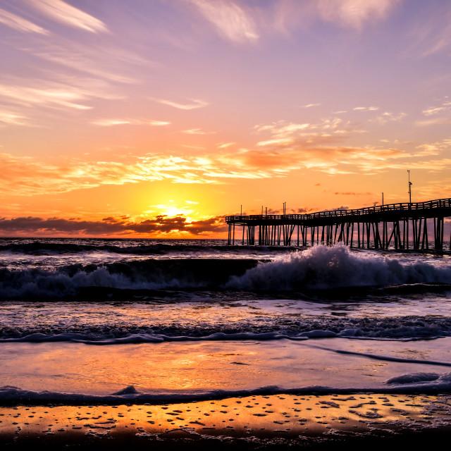 """Sunrise, Avon Pier (2)"" stock image"