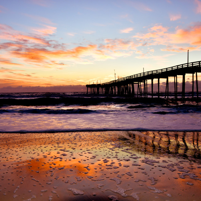 """Sunrise, Avon Pier (1)"" stock image"
