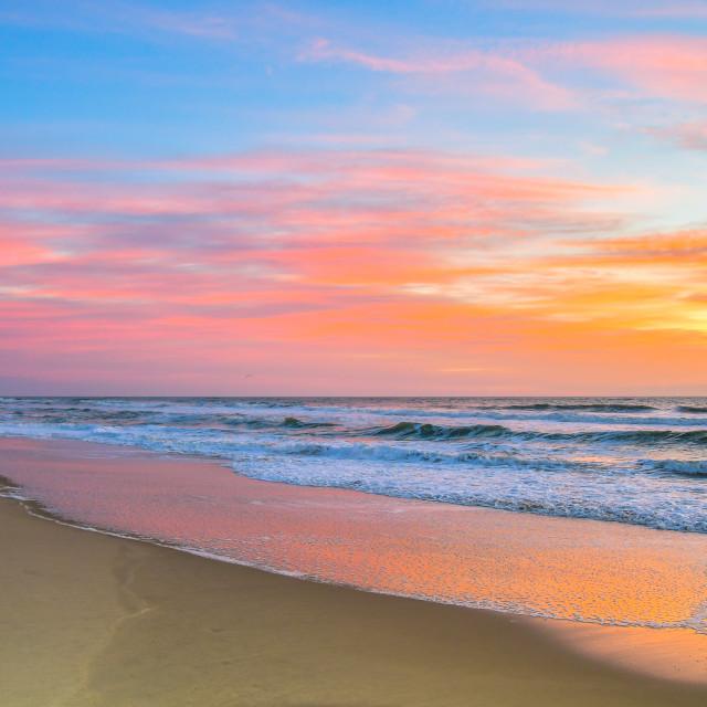 """Sunrise, Avon North Carolina (2)"" stock image"