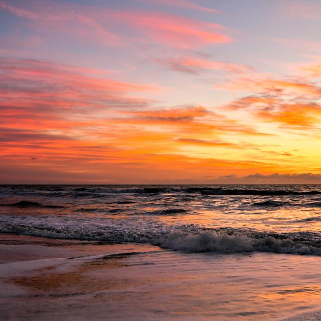 """""""Sunrise in Avon, NC (1)"""" stock image"""